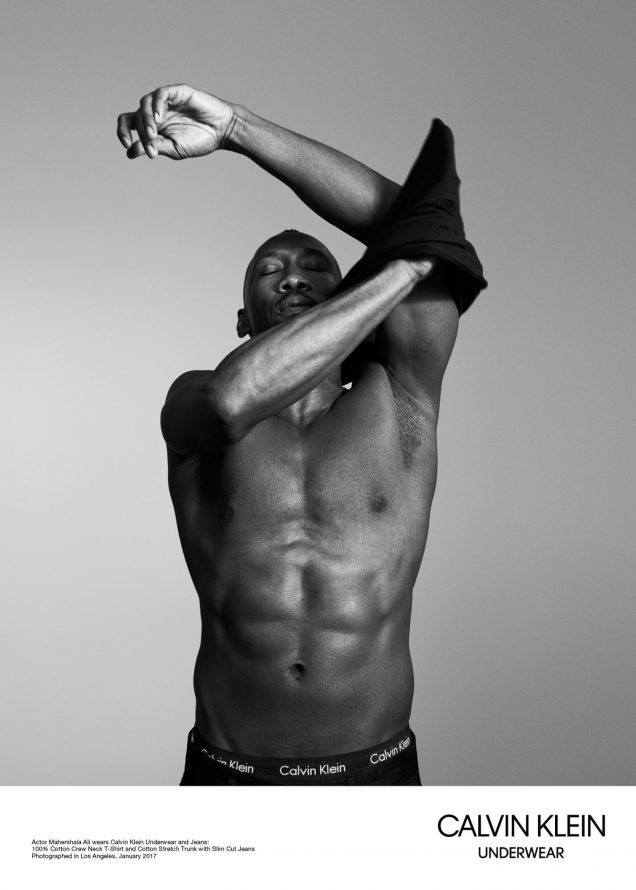 Oscar winner Mahershala Ali for Calvin Klein.