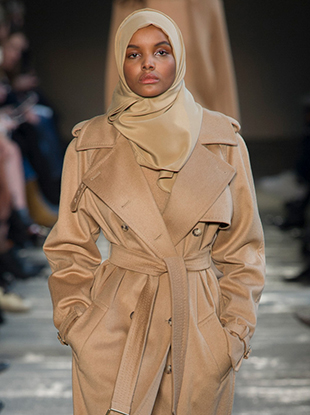 Halima Aden on the Max Mara Fall 2017 runway.
