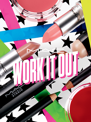 MAC Cosmetics' new, 80s-inspired Work It Out collection will be available in stores and via the brand's e-commerce site from March 2 through April 13.