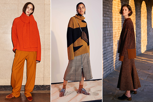 Oversized knits were a mainstay on the Pre-Fall 2017 runways.
