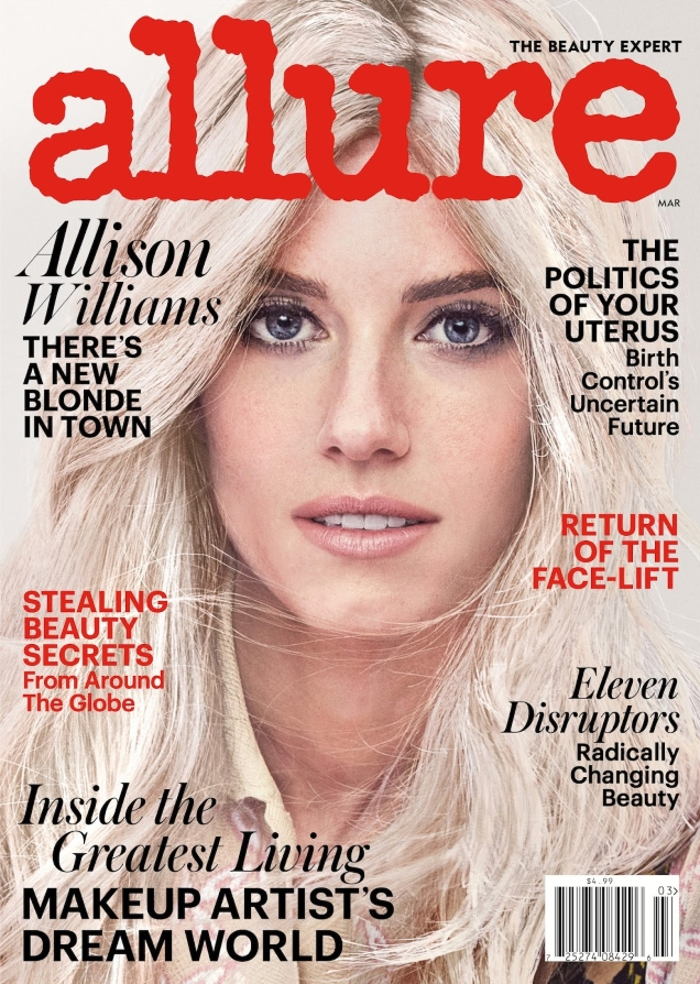 Allure March 2017 : Allison Williams by Jason Kibbler