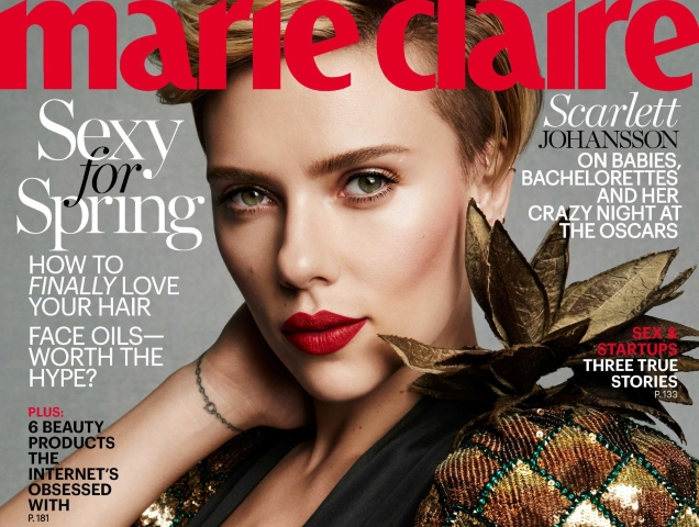 Scarlett Johansson US Marie Claire March 2017 TheFashionSpot