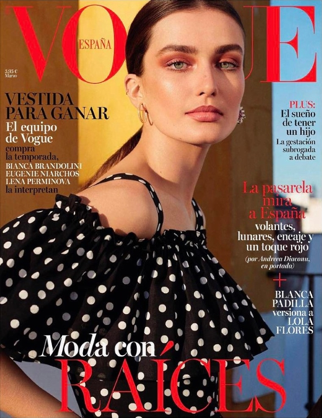 Vogue España March 2017 : Andreea Diaconu by Miguel Reveriego