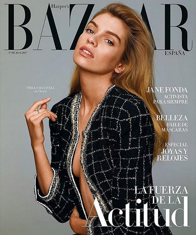 Harper's Bazaar España April 2017 : Stella Maxwell by Thomas Whiteside