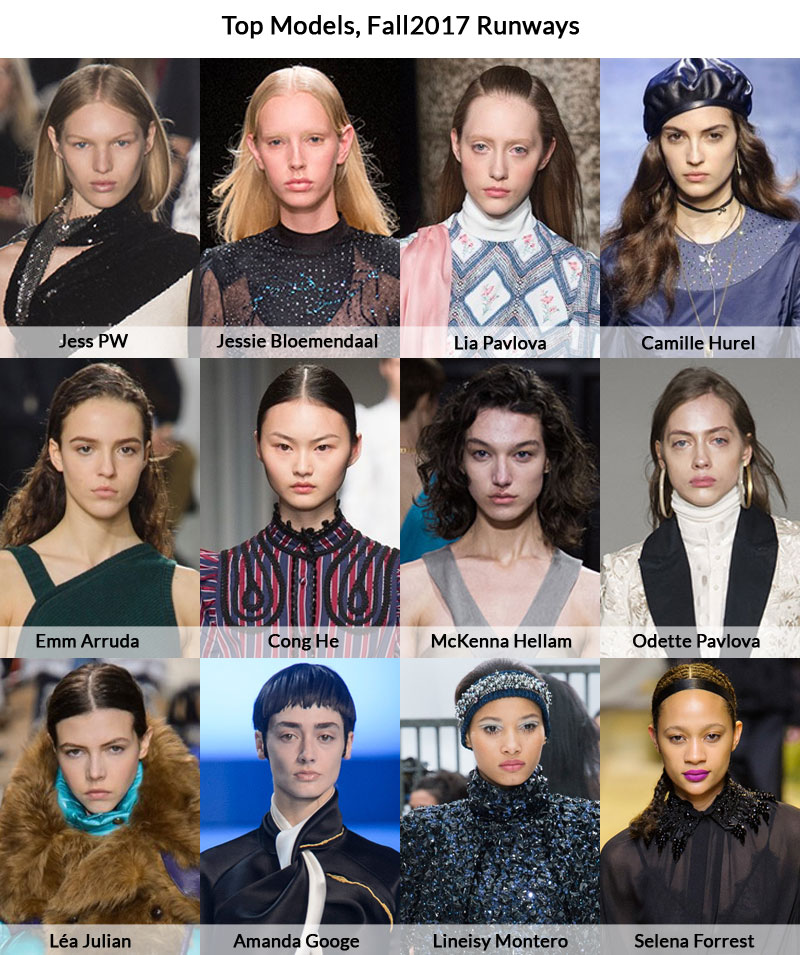 Top 12 models, Fall 2017 runways