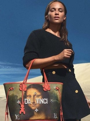 Louis Vuitton x Jeff Koons Handbags 2017 : Alicia Vikander by Mert & Marcus