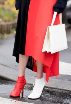 Trend Dare: Mismatched Shoes a la Celine and Calvin Klein
