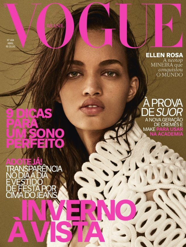 Vogue Brazil April 2017 : Ellen Rosa by Giampaolo Sgura