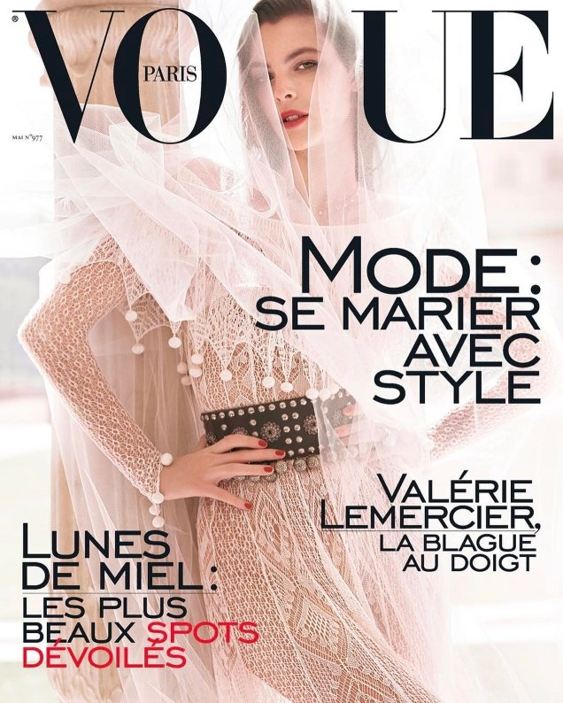 Vogue Paris May 2017 : Vittoria Ceretti by Mario Testino