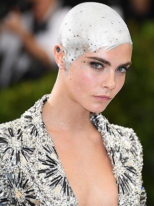 Cara Delevingne at the 2017 Met Gala.