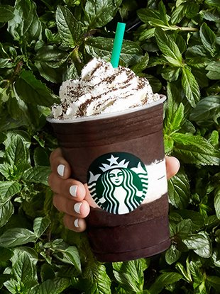 Starbucks' new Midnight Mint Mocha Frappuccino.