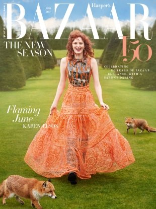 UK Harper's Bazaar June 2017 : Karen Elson by Richard Phibbs