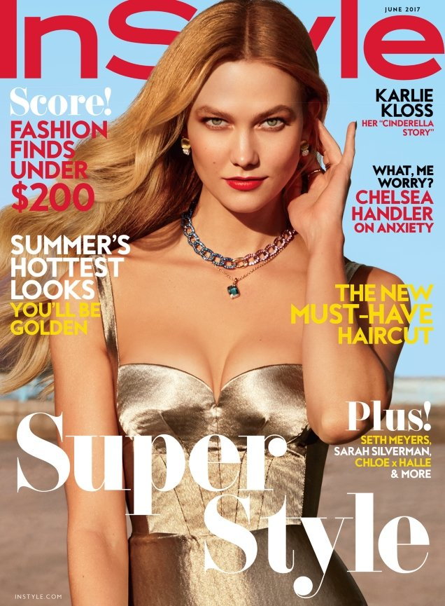 US InStyle June 2017 : Karlie Kloss by Carter Smith