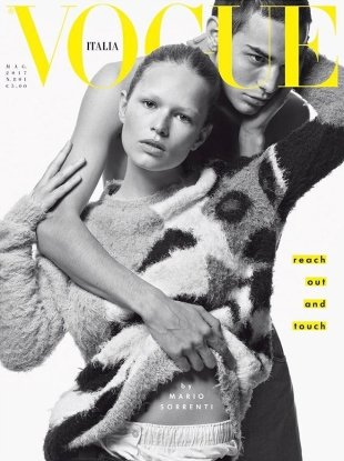 Vogue Italia May 2017 : Anna Ewers & David Friend by Mario Sorrenti
