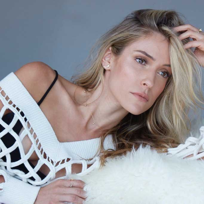 Kristin Cavallari wears her Uncommon James jewelry
