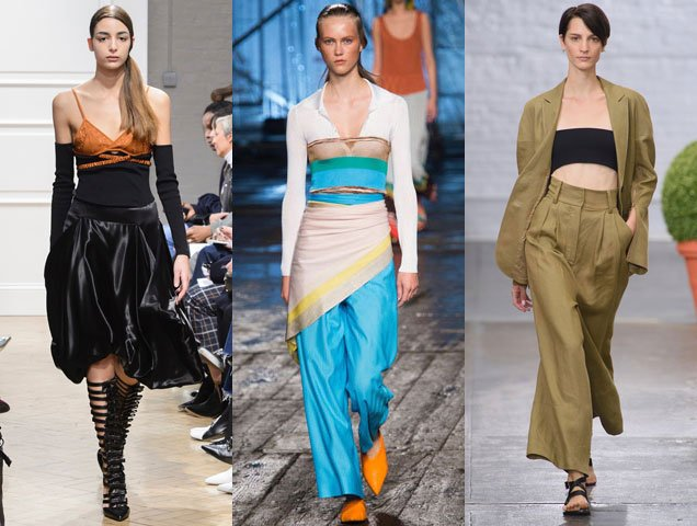Runway-approved ways to wear a tube top and bandeau in 2017