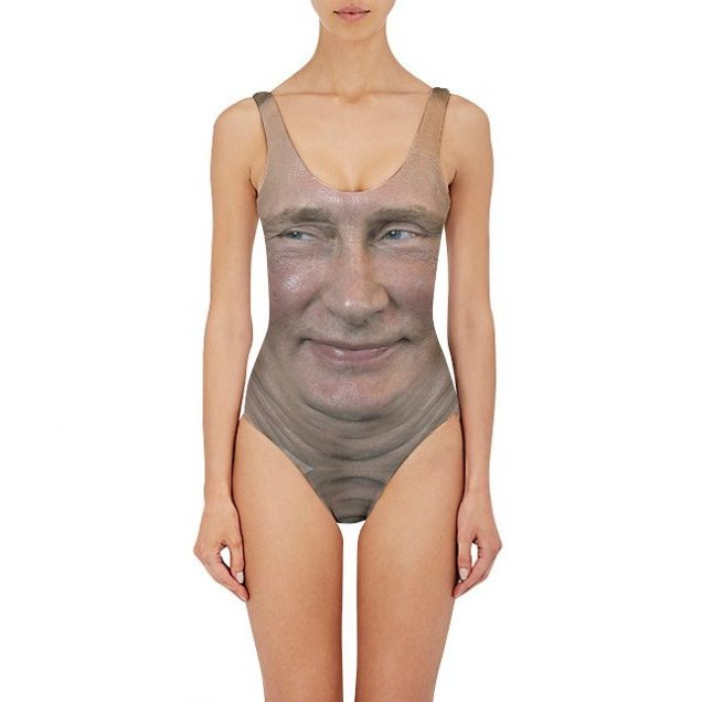 Putin One Piece Swimsuit, $49.95 at Beloved; Image: Courtesy