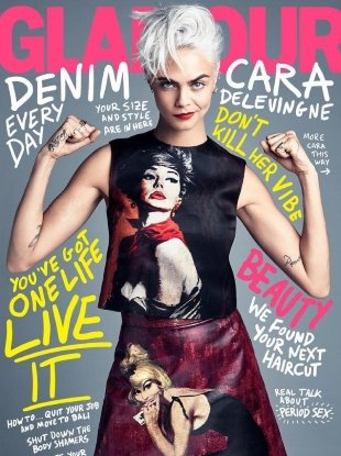 US Glamour August 2017 : Cara Delevingne by Patrick Demarchelier