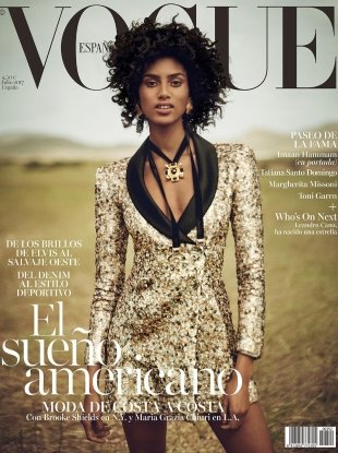 Vogue España July 2017 : Imaan Hammam by Boo George