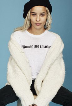 Where to Get That 'Women Are Smarter' Tee Worn by Harry Styles and Zoe Kravitz