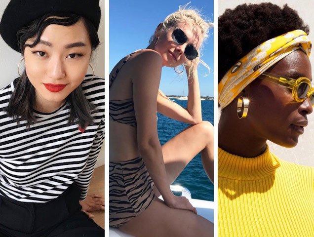 Hoop earrings worn by Instagram influencers.