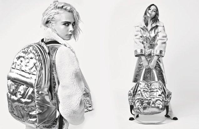 Chanel F/W 2017.18 : Cara Delevingne & Lily-Rose Depp by Karl Lagerfeld