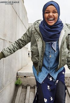 Muslim Model Halima Aden Flashes Her Braces in American Eagle's #ICAN Campaign