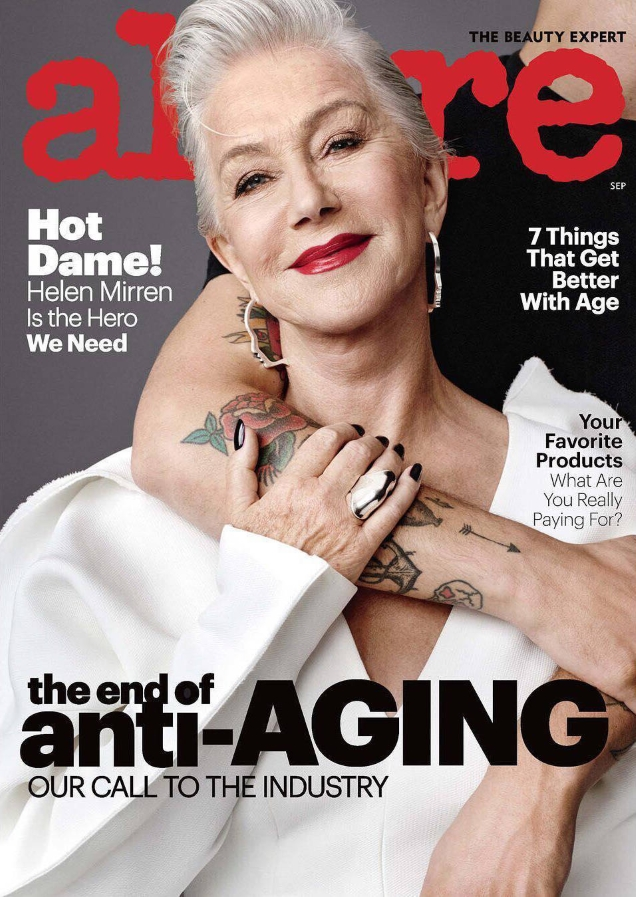 Helen Mirren covers Allure's September 2017 issue