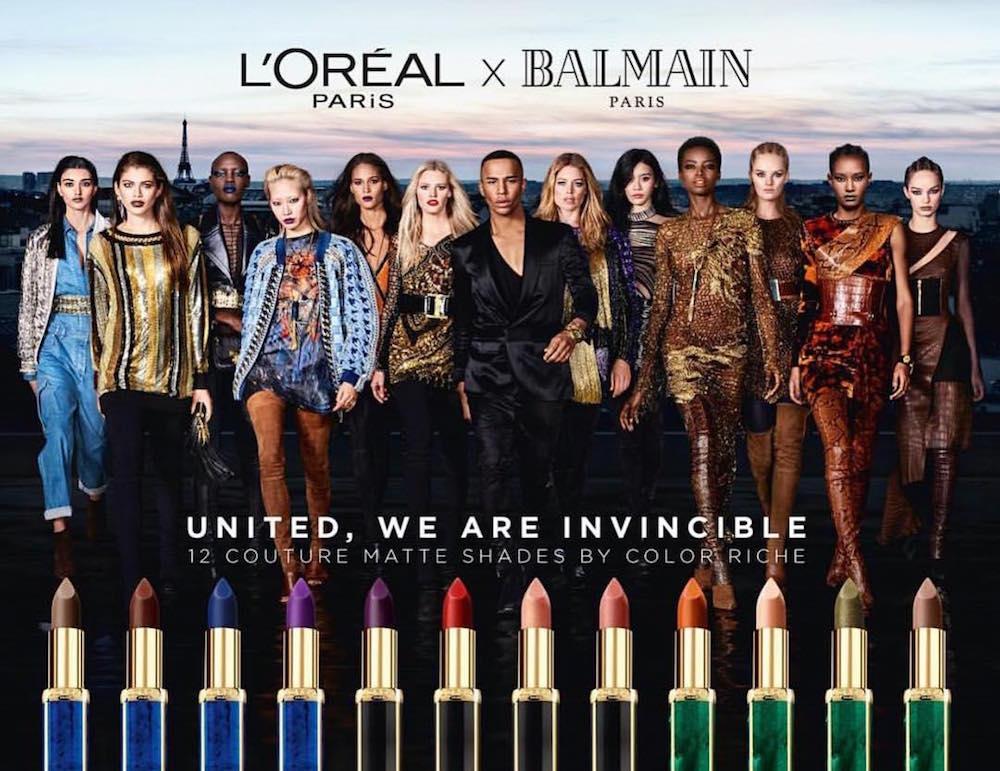 Balmain-Loreal-Lipstick-Ad