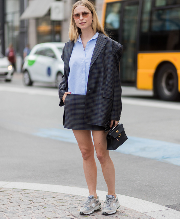 Pernille Teisbaek with mini bag