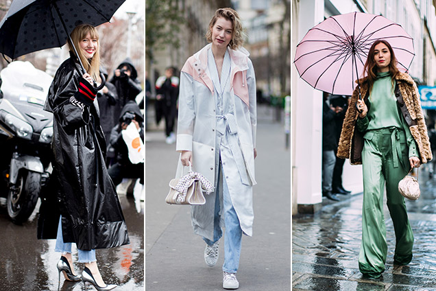 Street style: three chic rainy day outfits from Paris Fashion Week
