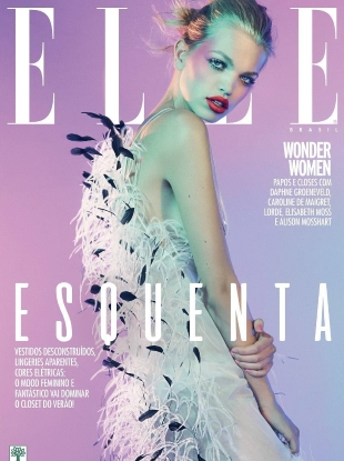 Elle Brazil August 2017 : Daphne Groeneveld by Mark Abrahams