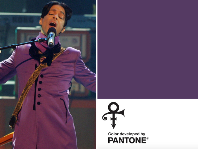 Prince is honored with his own purple Pantone color