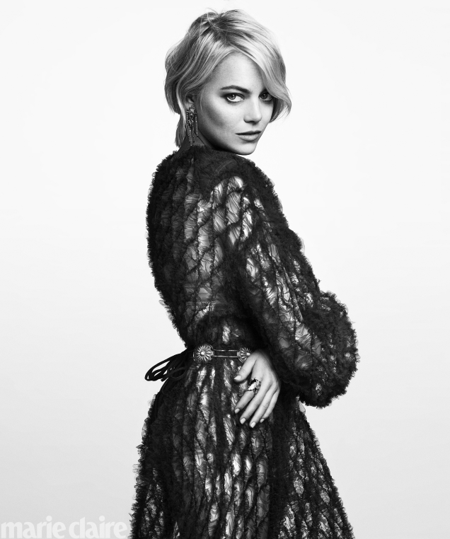 US Marie Claire September 2017 : Emma Stone by Greg Kadel