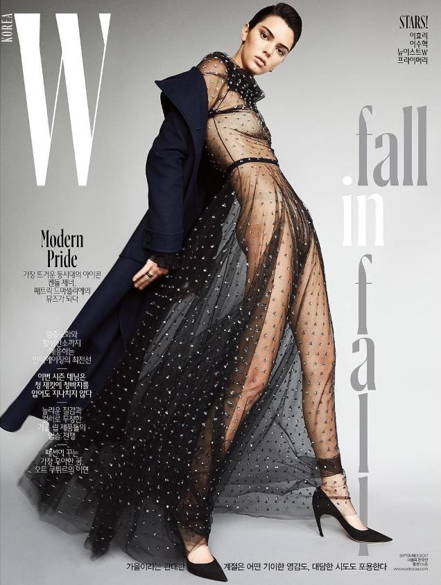 W Korea September 2017 : Kendall Jenner by Patrick Demarchelier