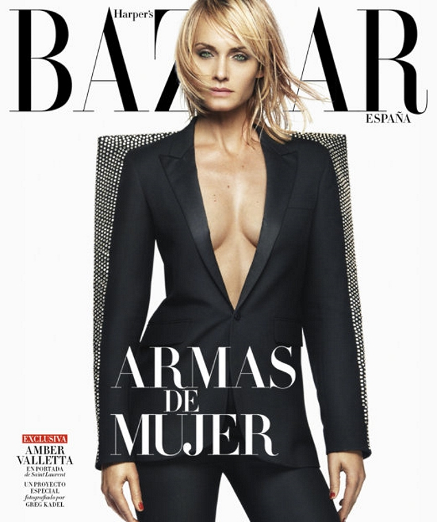 Harper's Bazaar España October 2017 : Amber Valletta by Greg Kadel