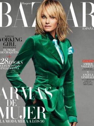 Harper's Bazaar España October 2017 : Amber Valletta by Greg Kadel