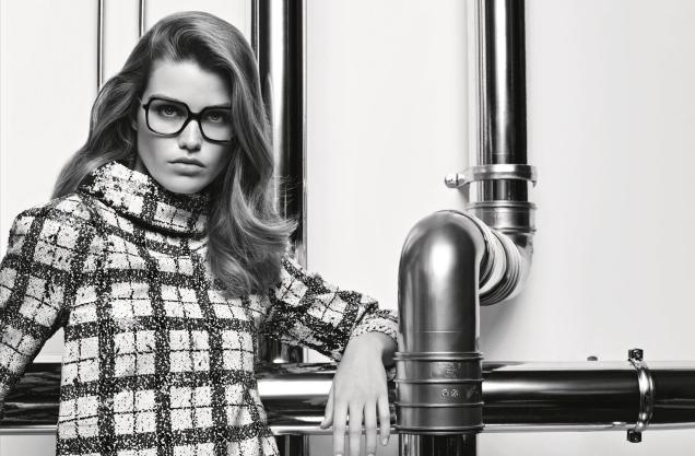 Chanel Eyewear F/W 2017.18 : Luna Bijl by Karl Lagerfeld