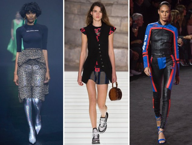 Logos run rampant on the Spring 2018 runways of Balenciaga, Louis Vuitton and Fenty x Puma.