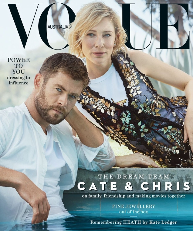 Vogue Australia November 2017 : Cate Blanchett & Chris Hemsworth by Will Davidson