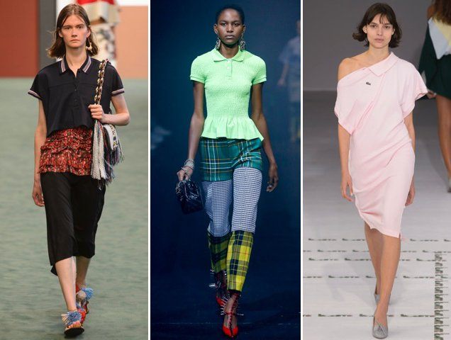 The Carven Spring 2018, Balenciaga Spring 2018 and Lacoste Spring 2018 runways were full of polo power.