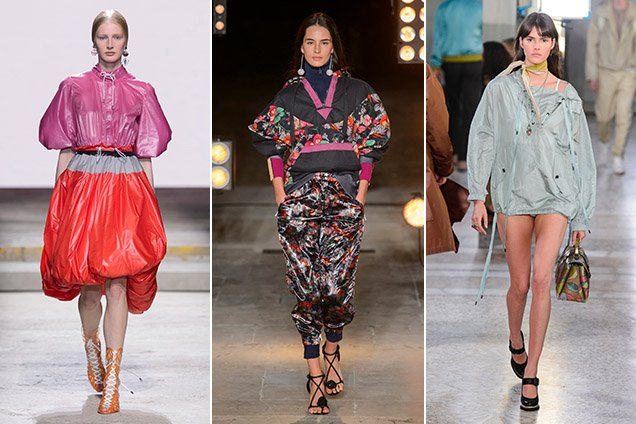 Anoraks on the Spring 2018 runways. Mary Katrantzou Spring 2018, Isabel Marant Spring 2018, Bottega Veneta Spring 2018