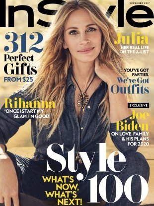 US InStyle December 2017 : Julia Roberts by Carter Smith