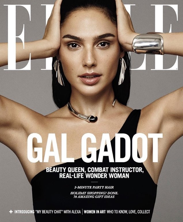 US Elle December 2017 : Gal Gadot by Paola Kudacki