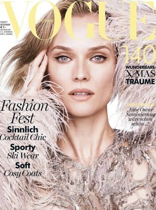 Vogue Germany December 2017 : Diane Kruger by Luigi & Iango