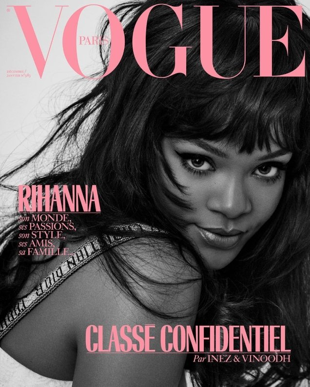 Vogue Paris December 2017/January 2018 : Rihanna