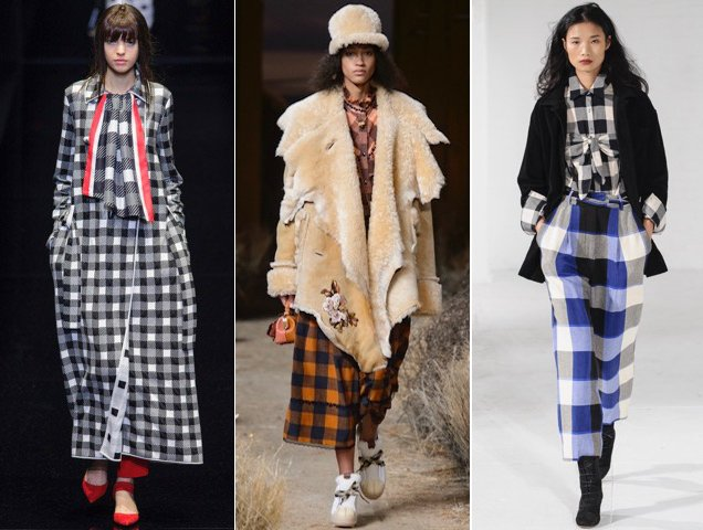 Checks appeared on more Fall 2017 runways than we could count. Emporio Armani Fall 2017, Coach 1941 Fall 2017, Mara Hoffman Fall 2017