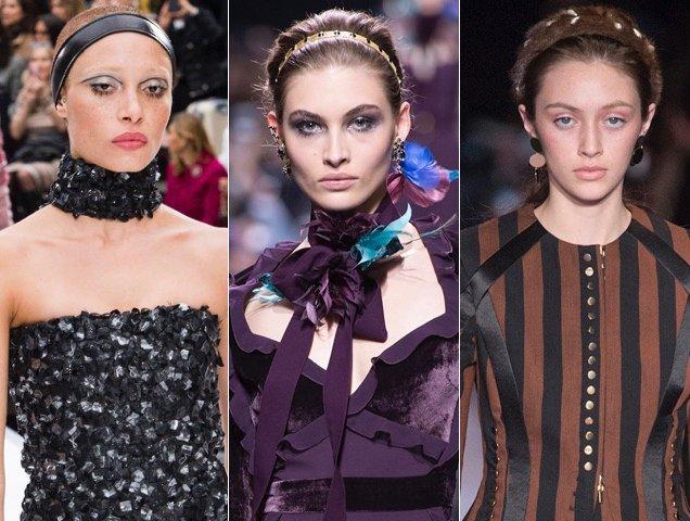 Headbands on the runways: Chanel Fall 2017, Elie Saab Fall 2017, Altuzarra Fall 2017