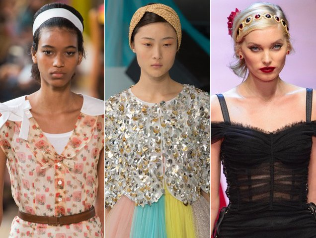 Headbands also proved popular at the Spring 2018 shows. Miu Miu Spring 2018, Delpozo Spring 2018, Dolce & Gabbana Spring 2018