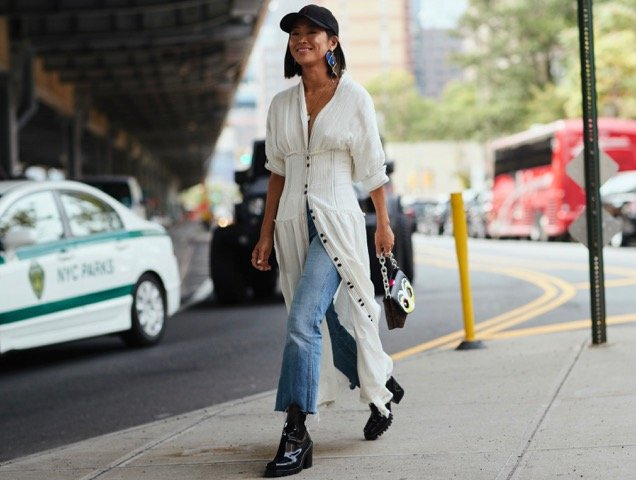 A baseball cap done the street style way.